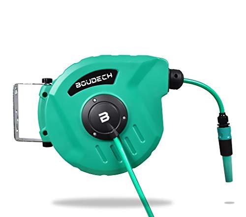 Boudech avvolgitubo automatico per giardino acqua girevole ed autoavvolgente con pompa da 10 mt *avvoltubo10metr*