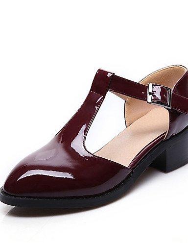 WSS 2016 Chaussures Femme-Habillé / Décontracté / Soirée & Evénement-Noir / Multi-couleur / Bordeaux-Gros Talon-Talons-Talons-Matières black-us9 / eu40 / uk7 / cn41