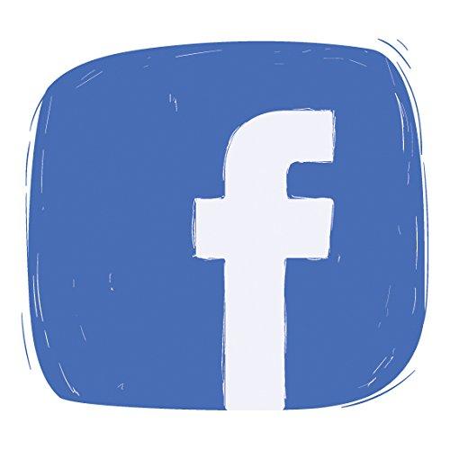 Best Social Media Designs Selbstklebender Vinyl-Aufkleber, für Auto, Fenster, Wand, Shop-Display, als Dekoration, für Türschilder, Vinyl, Facebook, 15 x 15 cm