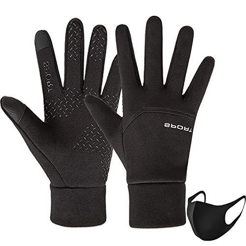 Ohwhoa guanti invernali antivento termici impermeabili per uomo e donna, guanti da caldi sportivi con touch screen per moto, bici, corsa, guida, sci, snowboard, alpinismo, trekking