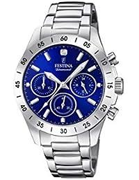 Festina Damen Chronograph Quarz Uhr mit Edelstahl Armband F20397/2
