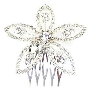Accessoires cheveux Aster Grand peigne à cheveux Cristal Fleur Mariage