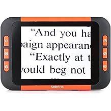 Koolertron 3,5 pulgadas de pantalla LCD Portátil Lupa Electrónica Bolsillo de lectura electrónica portable para Visión mejor Ayuda de vídeo de la lupa para Baja Visión - Aide Ideal para leer, escribir, ver mapas, menús, botellas de la prescripción, Libros y Letras - Herramienta Digital Handheld para cualquier persona con baja visión o Macular