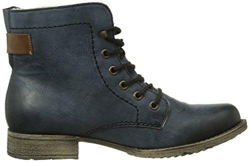 Rieker 70821 Damen Halbschaft Stiefel Blau (ozean/mogano / 14)