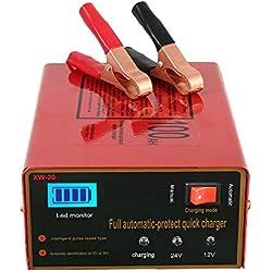 12V/24V Chargeur de batterie pour voiture intelligent automatique Mainteneur, au Lithium, Plomb Acide batterie, 140W 6Ah à 105Ah, avec LED écran