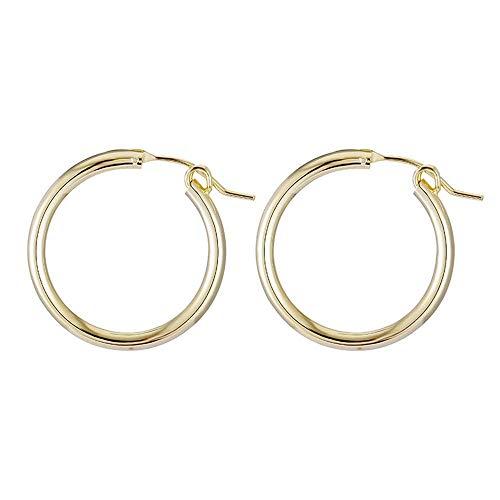 Flut-metall (XINSU Home Europäische und amerikanische Retro-Stil-einfache und stilvolle Größe runde Ohrringe Persönlichkeit Flut Metall)