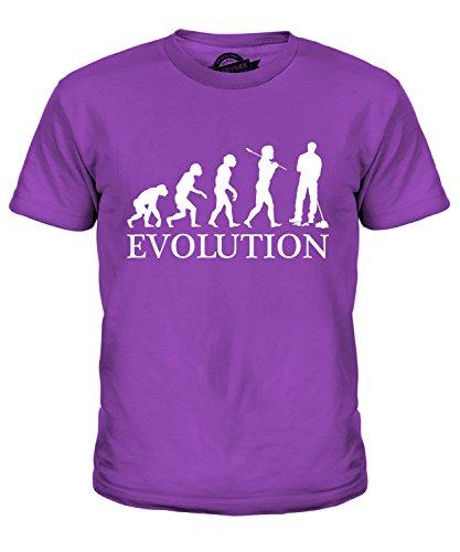 Candymix Hausmeister Parkwächter Evolution des Menschen Unisex Jungen Mädchen T Shirt, Größe 10 Jahre, Farbe ()