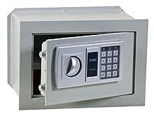 Categoria/Sottocategoria:SERRATURE/CassaforteArticolo:CASSAFORTE ELETTRONICA CM 42X20X30 MM 6 CATENACCI 2 Confezione da 1PZ Rif. Figura: 33920 sportello in acciaio spessore 6 mm, catenacci antitaglio in acciaio, serratura di sicurezza a comando el...