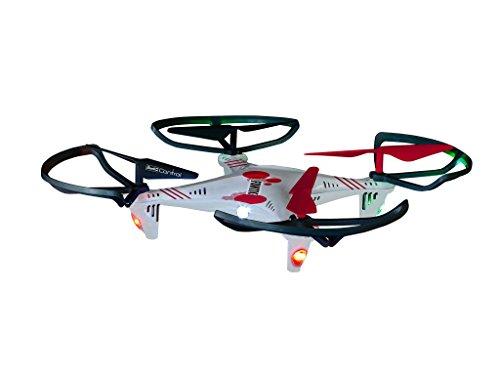 Revell Control RC Quadrocopter für Einsteiger, ferngesteuert mit 2,4 GHz Fernsteuerung, robust, Wechsel-Akku, Headless, Flip-Funktion, Geschwindigkeitsstufen, LED-Beleuchtung, Propellerschutz - 23937 - 3