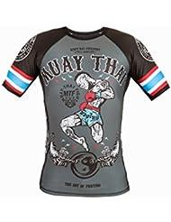 Dirty Ray Arts Martiaux Muay Thai t-shirt de compression rashguard homme RG10