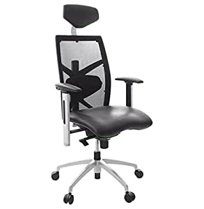 Alterego - Fauteuil de bureau ergonomique 'TOKYO' en similicuir noir