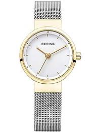 Bering Solar de las mujeres reloj plata/oro 14426–010