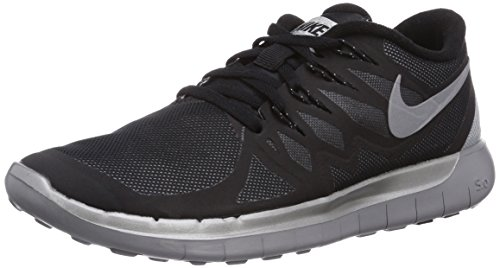 NIKE Wmns Free 5.0 Flash, Scarpe sportive, Donna, (Black/Reflect Silver/Wolf Grey), 37.5