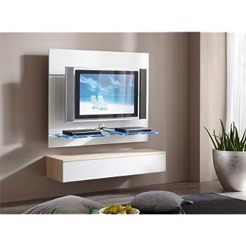 tv wand paneel element wei hochglanz mit tv halterung k che haushalt. Black Bedroom Furniture Sets. Home Design Ideas