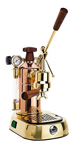 la Pavoni Professional PRG Independiente Semi-automática Máquina espresso 1.6L 16tazas Oro - Cafetera (Independiente, Máquina espresso, 1,6 L, De café molido, 1000 W, Oro)