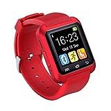 Bluetooth Smartwatch U8 Smart Watch Armbanduhr Digital Sport Player Uhr für Android Phone Wearable elektronisches Gerät (Rot)