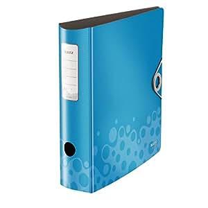 Leitz 10470037 Active Bebop Qualitäts-Ordner 180° (Polyproplyen, A4, breit) blau