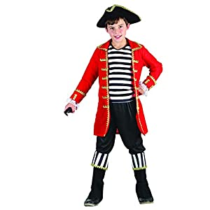Reír Y Confeti - Ficpir009 - Disfraces para Niños - Traje de Pirata de Alta Mar Deluxe - Boy - Talla L