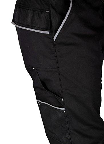 Iwea Stabile Arbeitshose Bundhose Berufshose Handwerker Cargohose Arbeitskleidung Grau IW063 (52/54 (L), Schwarz) - 3