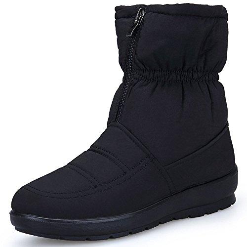 Eagsouni Damen Schneestiefel Wasserdicht Winterstiefel Stiefel Mädchen Winter Boots Schuhe Flach Stiefeletten Warm Gefütterte Stiefelette