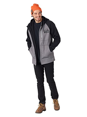 Burton Herren Bonded Full-Zip Hoodie monument heather