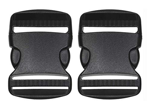 SKKXY - Plastic buckle for bracelets and necklaces (2 units, 50 mm), black color