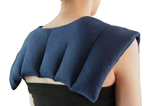 Almohadilla térmica para aliviar doloresEl calor calmante profundo trata los hombros del cuello y la parte superior de la espalda, fabricado con trigo 100% natural.