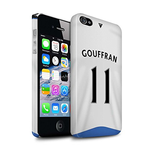 Offiziell Newcastle United FC Hülle / Glanz Snap-On Case für Apple iPhone 4/4S / Pack 29pcs Muster / NUFC Trikot Home 15/16 Kollektion Gouffran