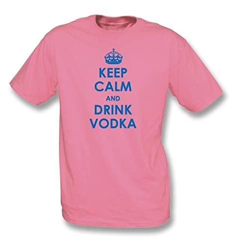 TshirtGrill Keep Calm And Drink Vodka T-shirt X-Large, Color Pink