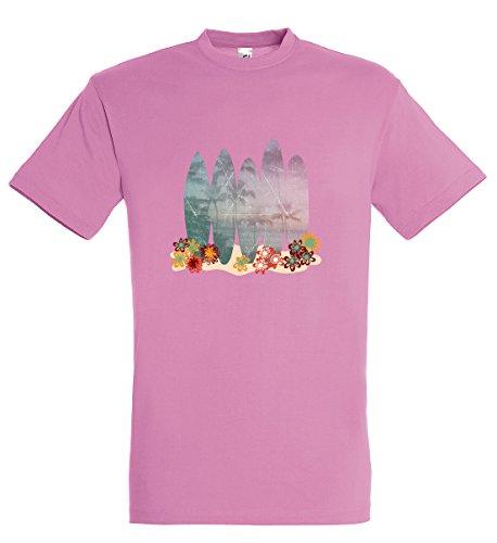 Supportershop Kinder-T-Shirt Rosa Surf Mädchen 8 Jahre Rose