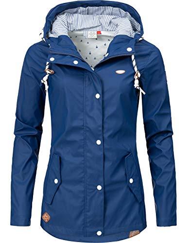 Ragwear Damen Übergangs-Jacke Outdoorjacke Regenmantel YM-Marge Petrol019 Gr. M (Regen-mäntel Lange)