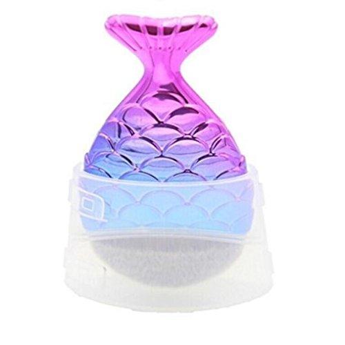 Honestyi-Pinceau de Maquillage écailles de poisson Chapeau de brosse de fond de Fishtail (Multicolore)