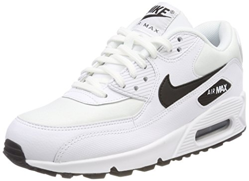Nike Damen Air Max 90 Sneakers, Weiß (White/Black 001), 43 EU