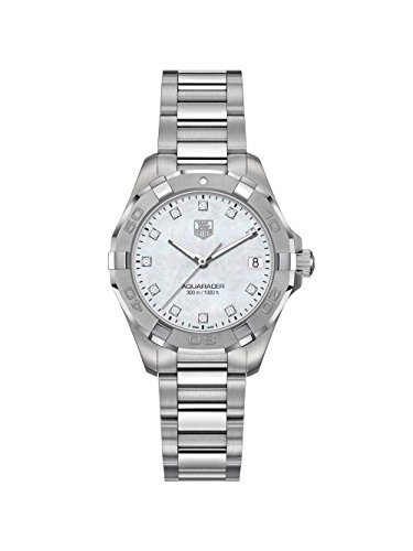 Tag Heuer Aquaracer White Mother of Pearl Diamond Dial Ladies Watch WBD1314.BA0740