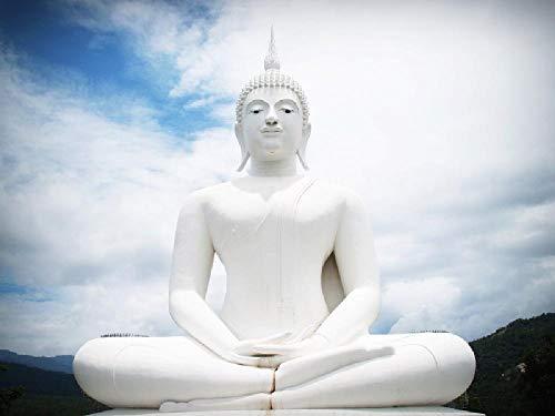 NA DIY Ölgemälde Farbe Nach Anzahl Kits Malerei Set Dekoration Geschenkebuddha Statue. Buddhismus 16 * 20 Zoll Leinen Leinwand Leinwand Wandkunst Kunstwerk Acrylsäure Malerei