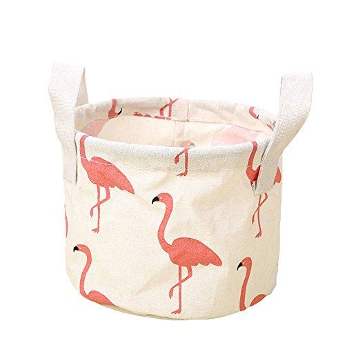 Bluelans® Fabric Storage Box, Round Storage Baskets, Mini Fabric Storage  Basket Nursery Storage