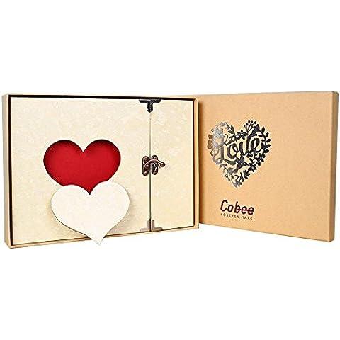 Cobee Creative Apple forma de corazón Love Foto Fotografía álbum de recortes