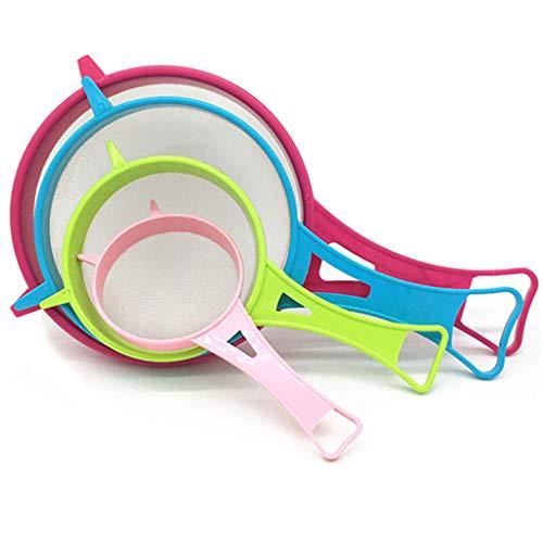 Preisvergleich Produktbild SEVENHOPE 4pcs rosa grün blau rot Sojamilch Mehl Sieb Küche Zubehör Gadget