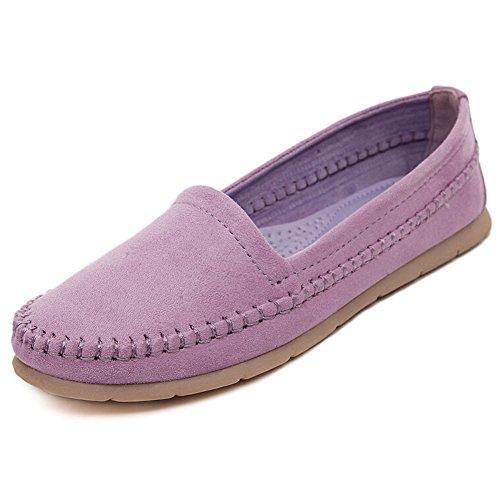Hattie , Chaussures bateau pour femme Violet