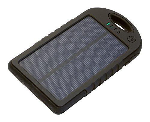 Iconbit FTB Travel - Powerbank 5.000mAh - Spritzwassergeschuetzt mit Solar Panel und LED-Lampe - Idale fuer Ihr Smartphone, Tablet ... Solar-powered Iphone