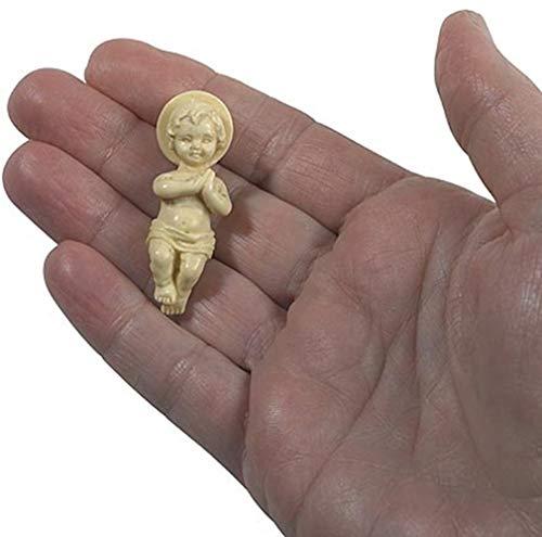 Religious Gifts Figur Jesus Christus Kind 13/10,2cm Kunststoff Baby für Krippe oder Kings Kuchen