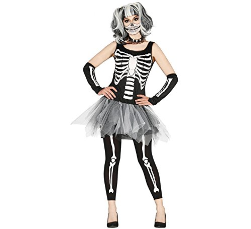 Fiestas Guirca Skelett Kostüm Tutu Frau (Skelett Kostüm Tutu)