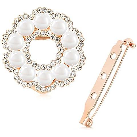 ZWX Semplice moda semplice Spilla perla/ sciarpa fibbie/ pin il corpetto/ Corea moda gioielli micro-cap-A