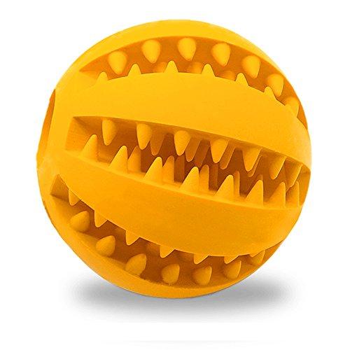 Wilk Hundespielzeug Ball für Haustiere, Zahnreinigung, Training, Kauen, Spielen, ungiftig, Weiches Gummi, IQ Leckerli-Ball, Minzgeschmack, Haustier-Bissball für Hunde Welpen und Katzen