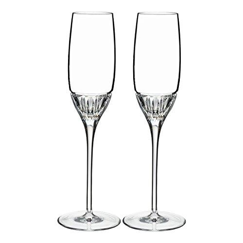 Waterford Addison Flöte Glas, Kristall, transparent, Set von 2 (Glas Stemware Cut)