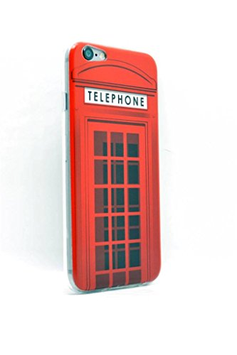 iPhone 15,2cm 11,9cm Bild Slim Fit Case Cover Protector Red London Telephone Booth