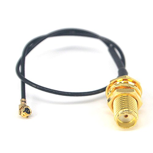 YILIANDUO HF Koaxial Pigtail Cable SMA Buchse Schott zu IPX U.FL 1.13 15CM Pigtail Antennenverlängerung Koax WiFi Kabel für Wireless Modem Router Mini PCI Karten Packung mit 2 Stück