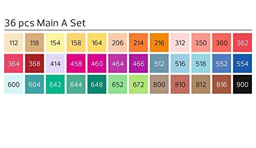 Stylefile SFSBR36MA Brush Marker Main A, 36er Set -
