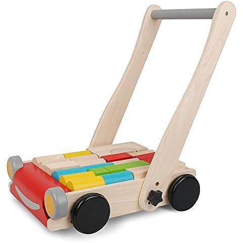 PlanToys 51230 PlanPreschool - Andador de madera [importado de Alemania]