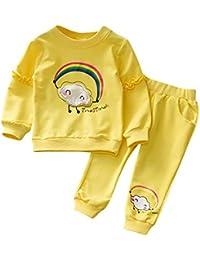 e171c06ce Tefamore Ropa Bebe Nino Otoño Invierno 2018 Ofertas Ropa de Arco Iris Infantil  Recien Nacido Blusas Bebe Niña Manga Larga Camisetas…